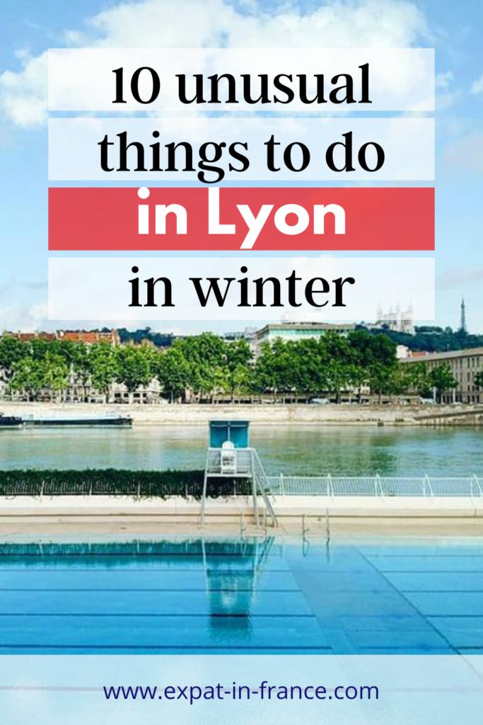 Lyon swimming pool in winter