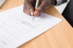 Rental contract signature